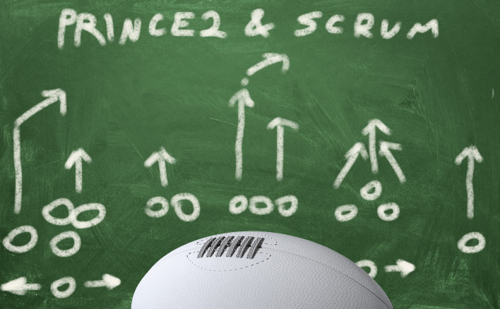 Rugby strategy on a blackboard