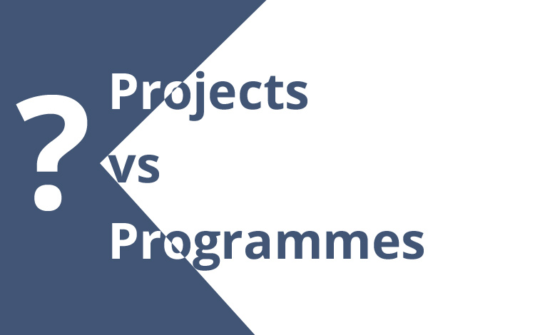 Projects vs programmes